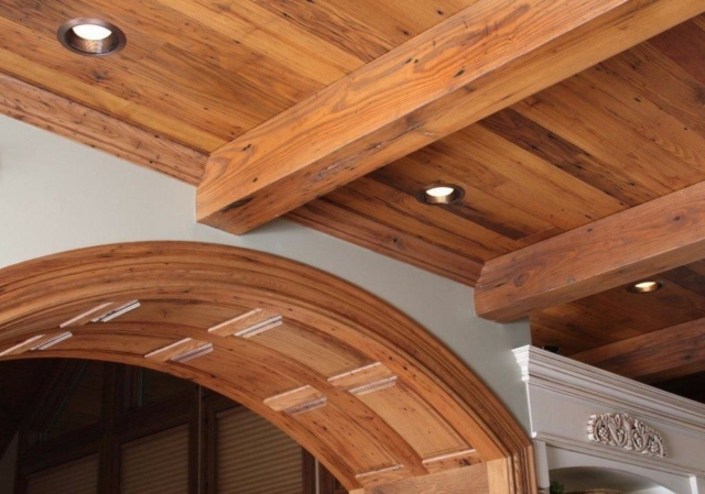 Wormy Chestnut S4S Box Beams