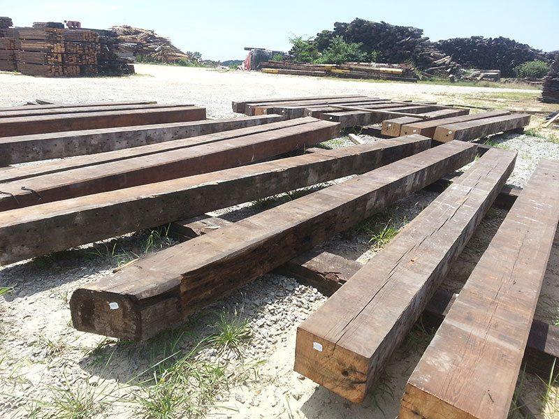 antique heart pine beams