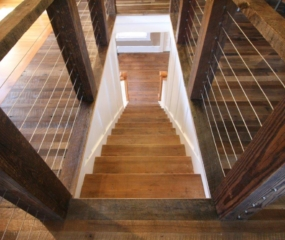 Antique Heart Pine Newell Posts, Antique Heart Pine Stair Treads
