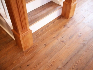 Antique Heart Pine Newell Posts & Stair Treads