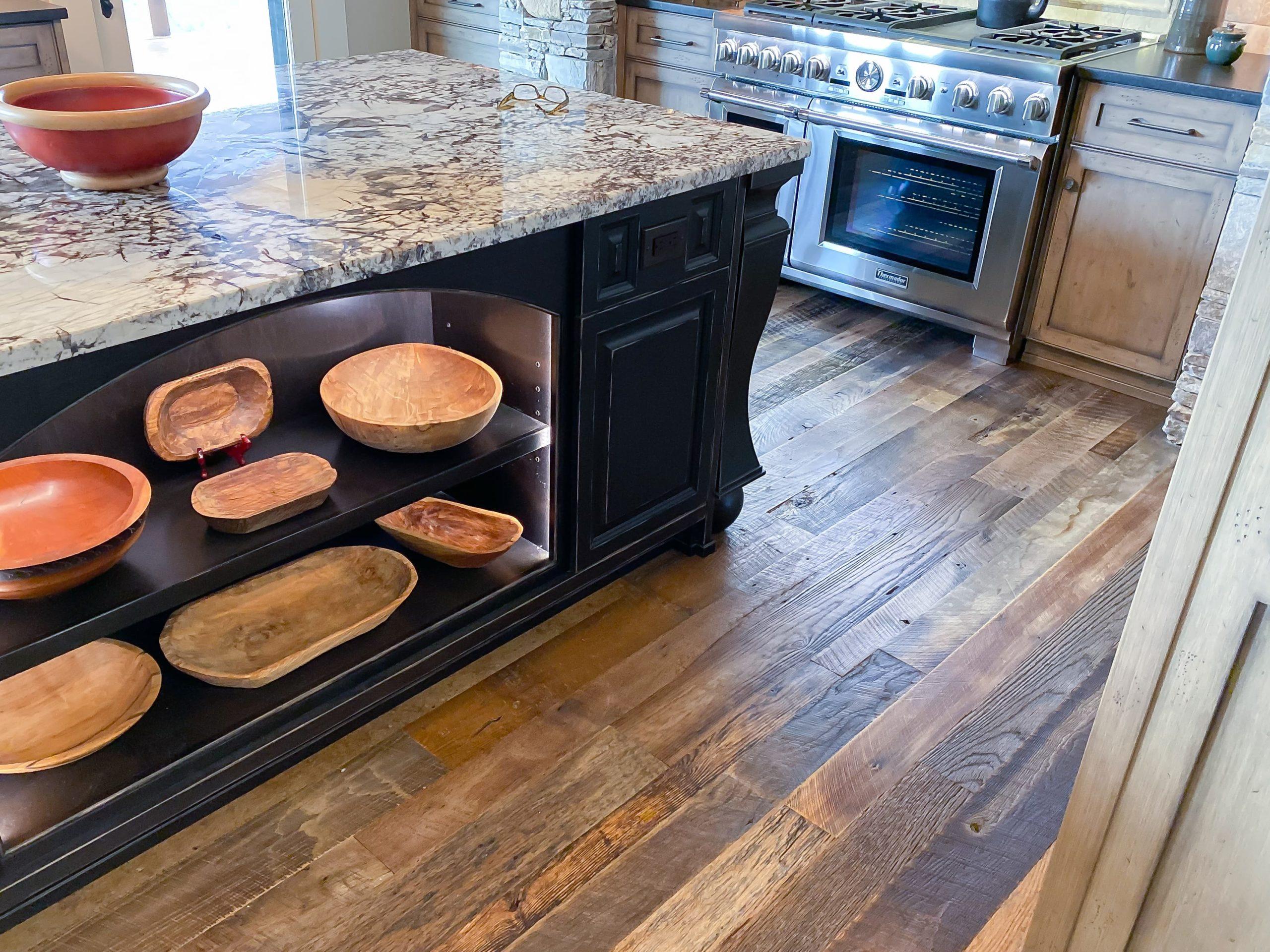 Antique Reclaimed Original Face Oak Flooring with Bona water-based Polyurethane Finish