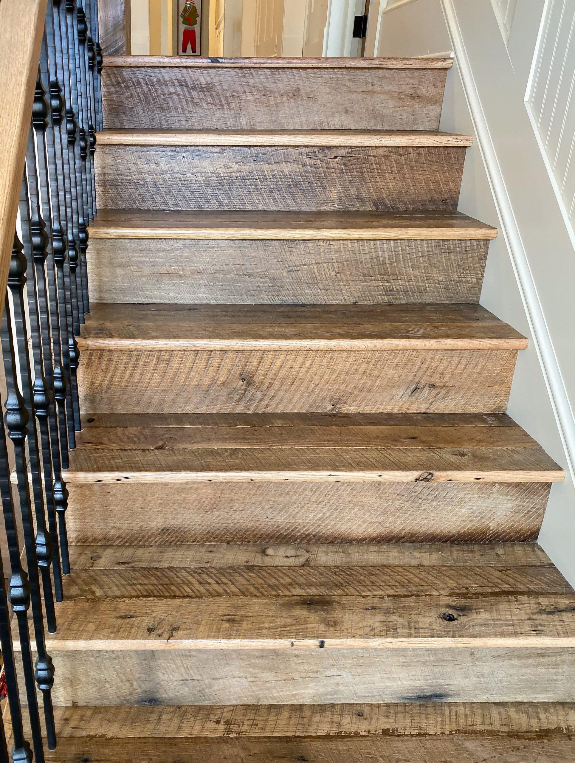 Antique Reclaimed Original Face Oak Stair Treads + Risers