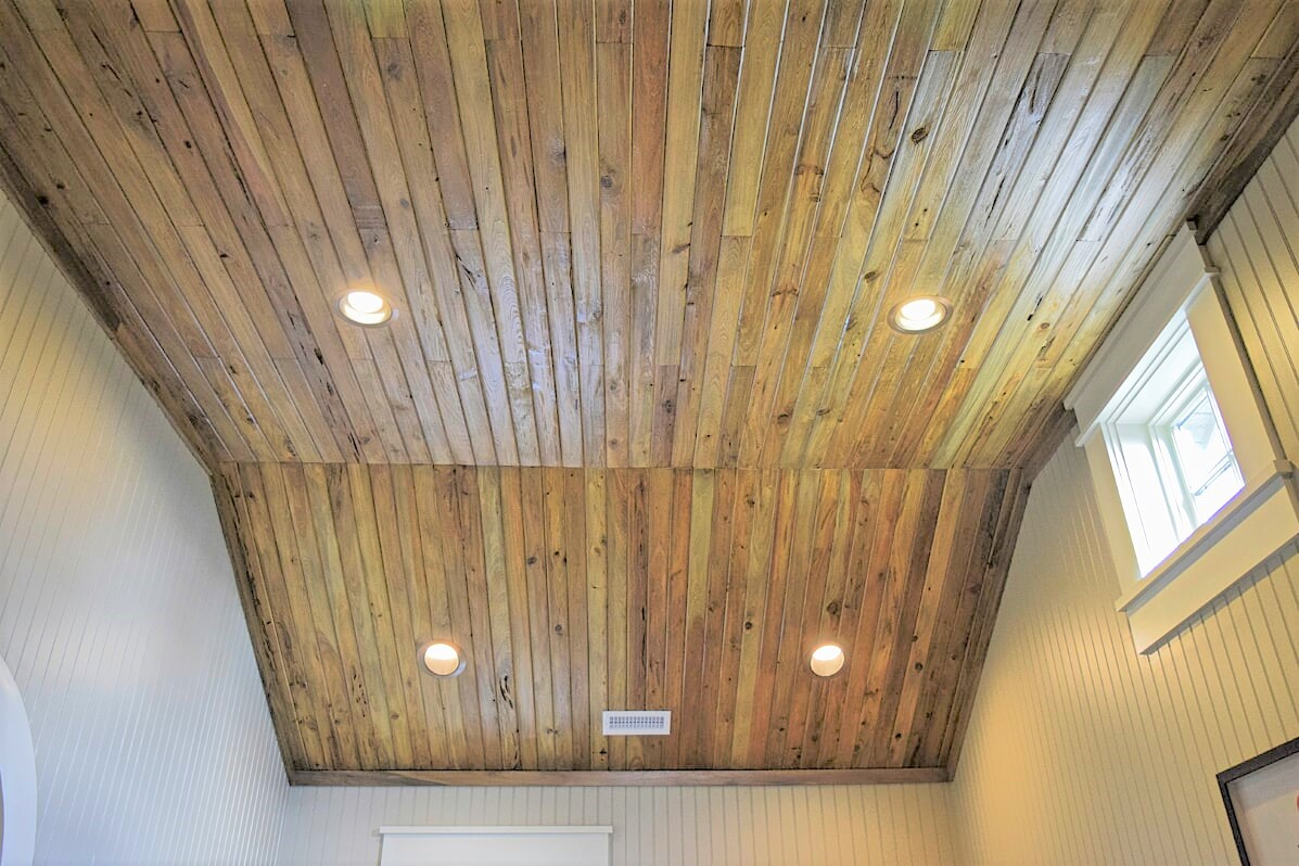 Pecky Cypress Ceiling Planking