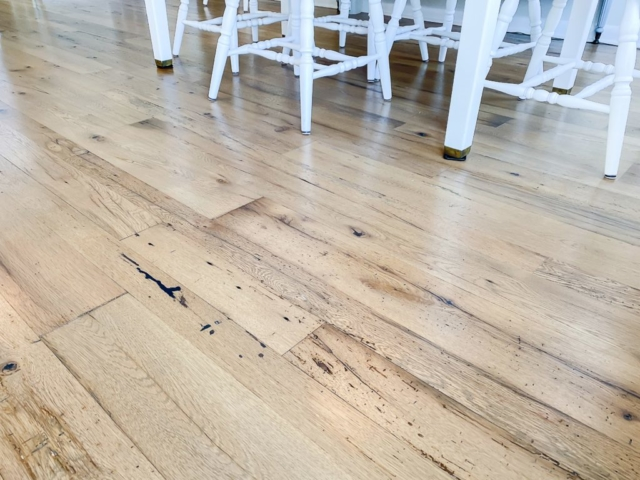 Antique White Oak Smooth Face Flooring