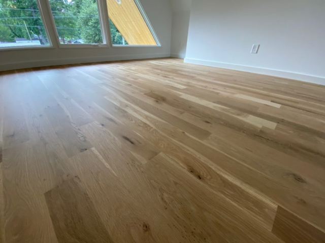 New White Oak Flooring with Loba Invisible Finish