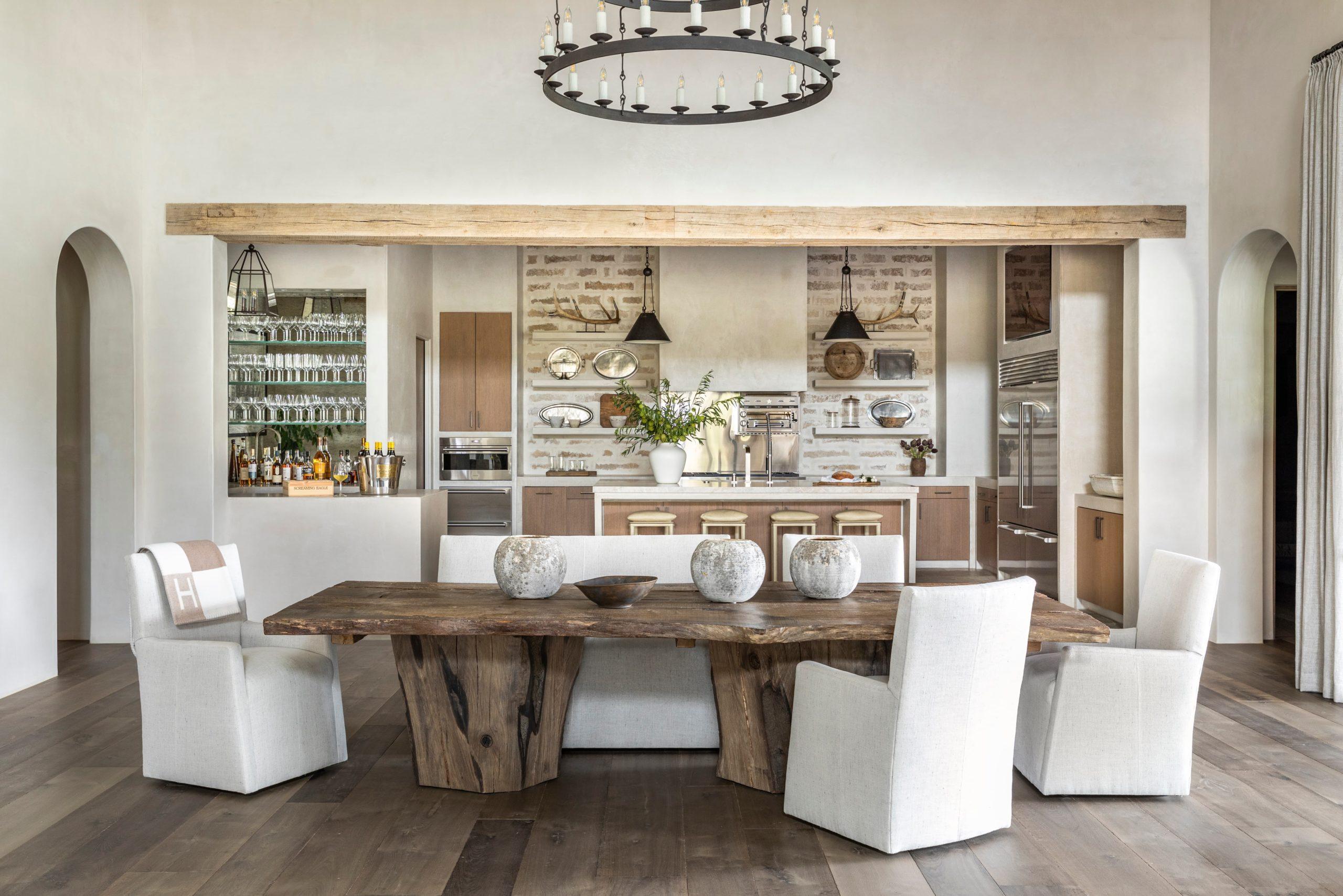 Bleached Rough Sawn Barn Beam and European White Oak Flooring