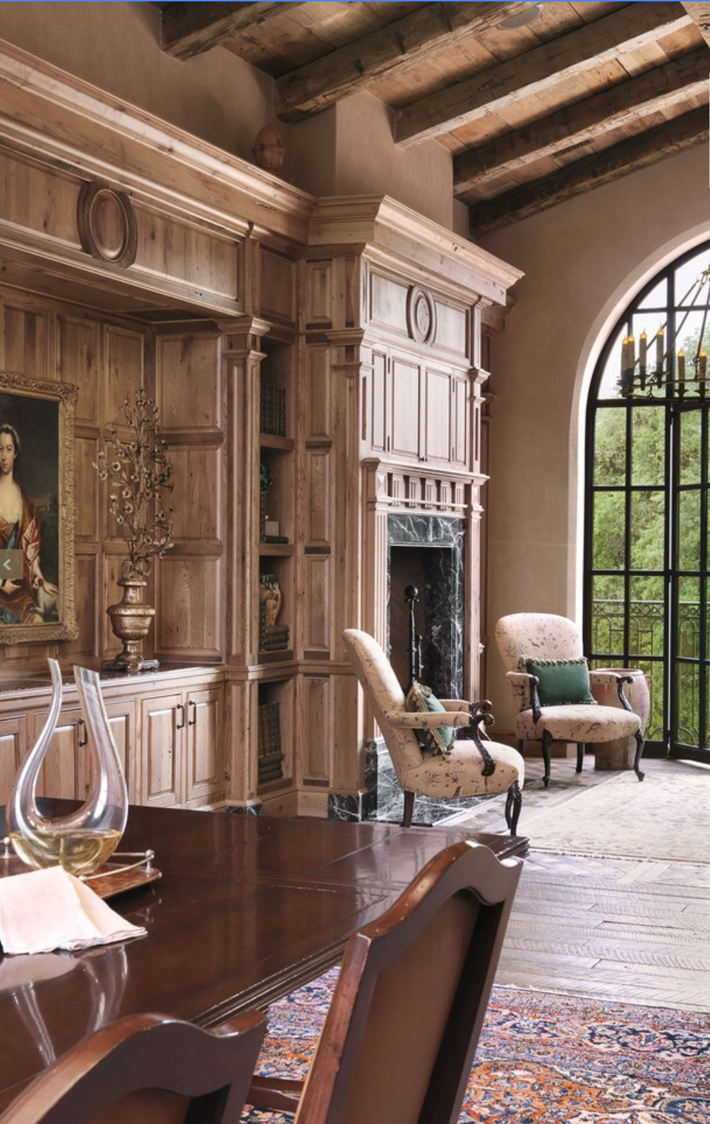 Antique Reclaimed Beams, Barnwood Ceiling Planking and Original Face Reclaimed Oak Flooring