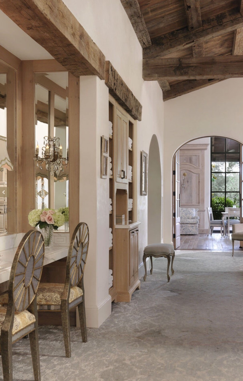 Antique Reclaimed Beams and Barnwood Ceiling Planking