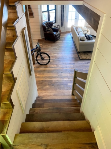 Original Face Reclaimed Oak Flooring and Stair Treads