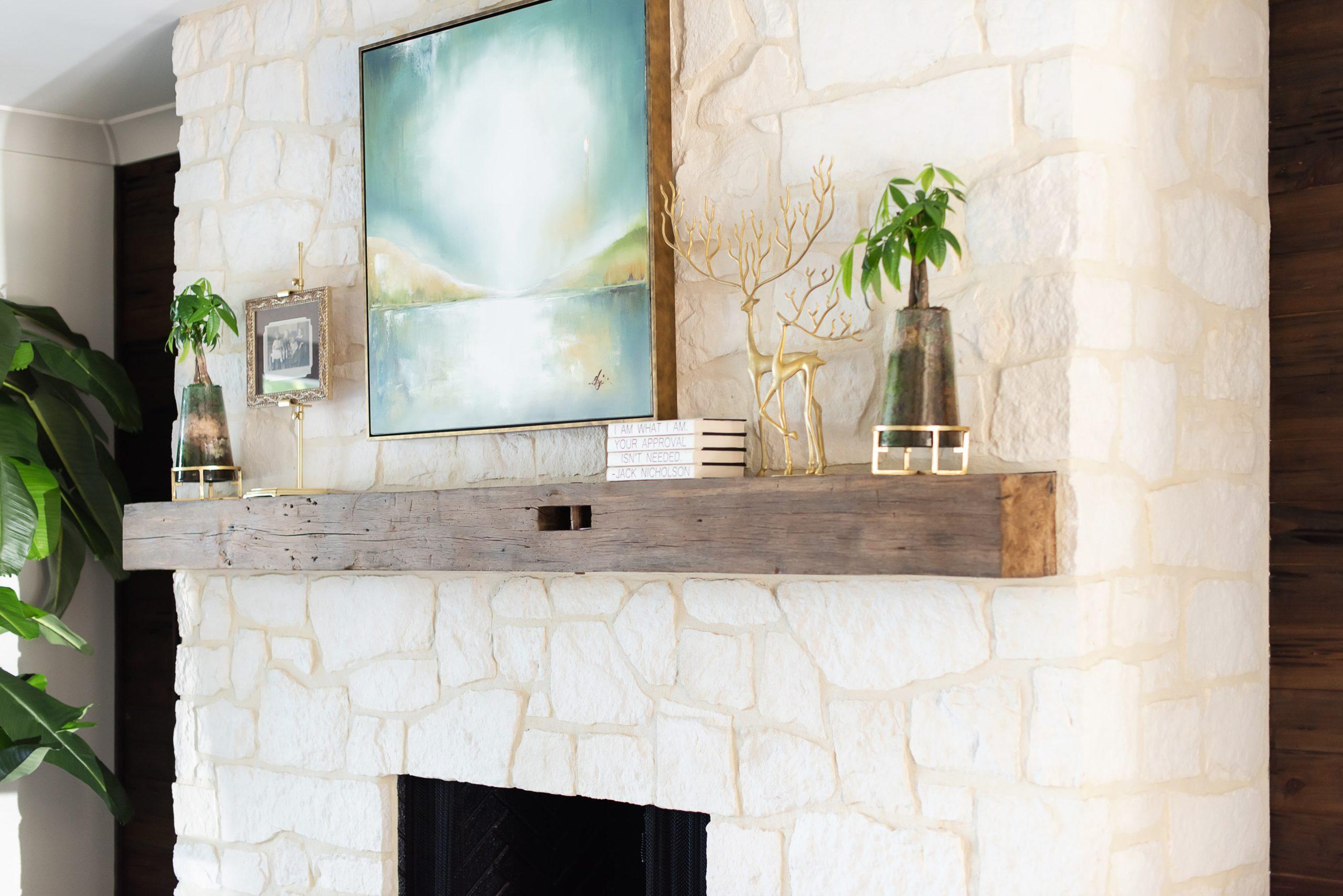 Southend Reclaimed - Antique White Oak Solid Mantel 4