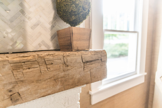 Antique Reclaimed Hand Hewn Mantel
